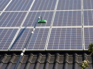 Reinigung von Photovoltaikanlagen